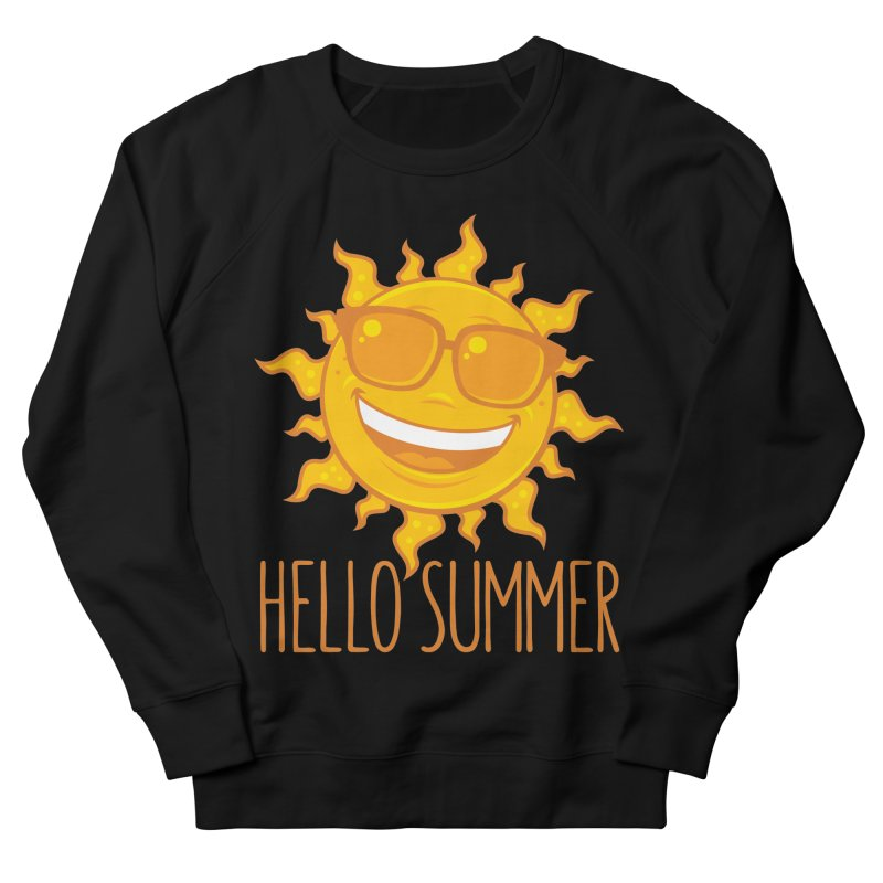 Hello Summer Sun With Sunglasses Men's French Terry Sweatshirt by Fizzgig's Artist Shop