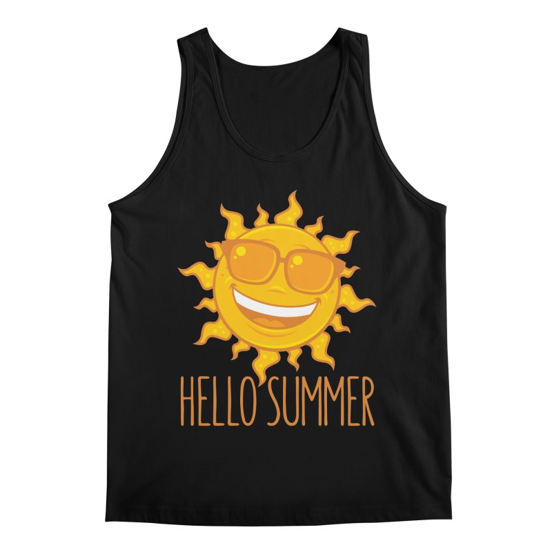 Hello Summer Sun With Sunglasses Men's Regular Tank by Fizzgig's Artist Shop