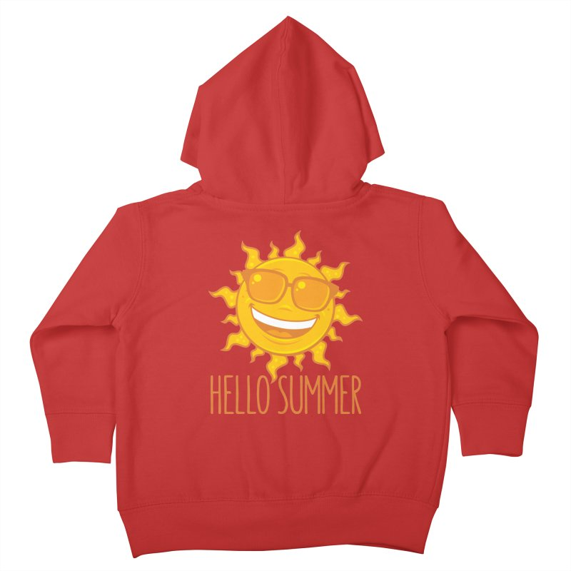 Hello Summer Sun With Sunglasses Kids Toddler Zip-Up Hoody by Fizzgig's Artist Shop