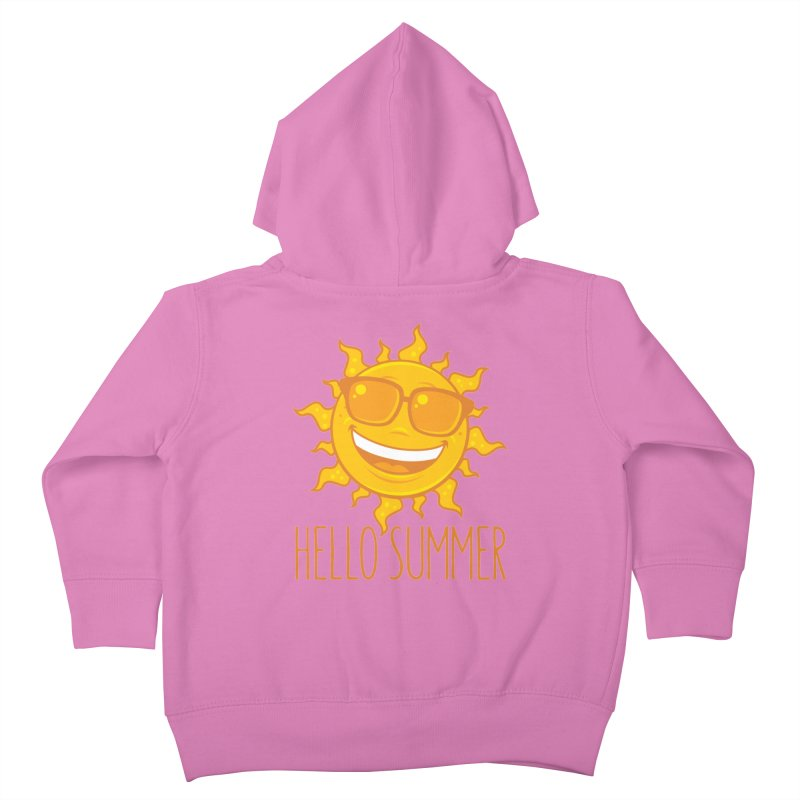 Hello Summer Sun With Sunglasses Kids Toddler Zip-Up Hoody by Fizzgig's Artist Shop