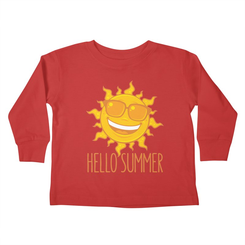 Hello Summer Sun With Sunglasses Kids Toddler Longsleeve T-Shirt by Fizzgig's Artist Shop