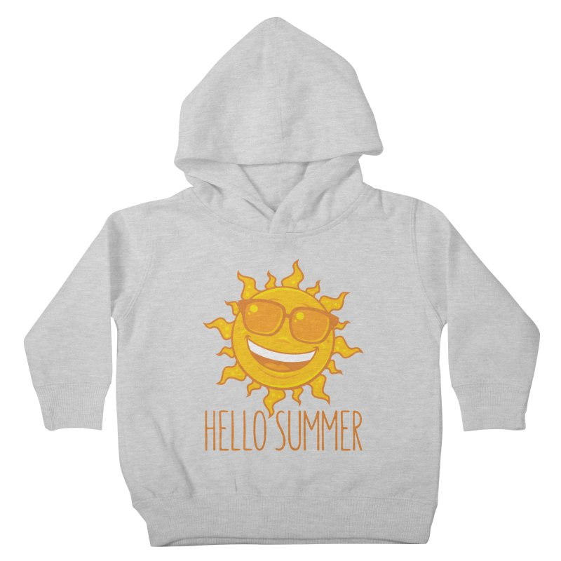 Hello Summer Sun With Sunglasses Kids Toddler Pullover Hoody by Fizzgig's Artist Shop