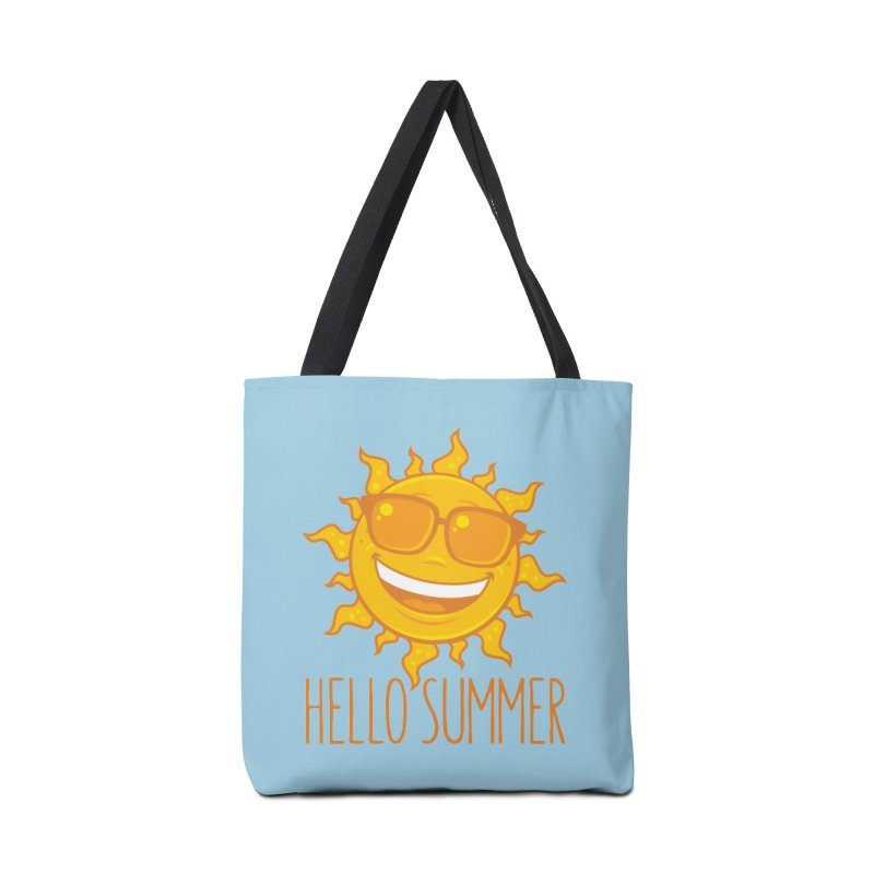 Hello Summer Sun With Sunglasses Accessories Tote Bag Bag by Fizzgig's Artist Shop