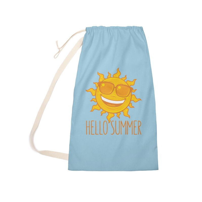 Hello Summer Sun With Sunglasses Accessories Laundry Bag Bag by Fizzgig's Artist Shop