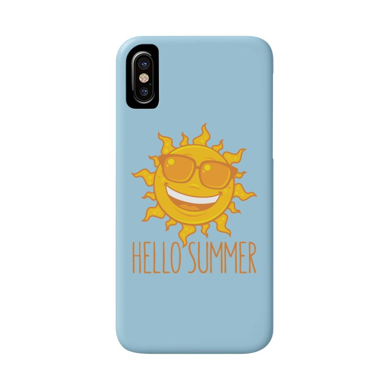 Hello Summer Sun With Sunglasses Accessories Phone Case by Fizzgig's Artist Shop