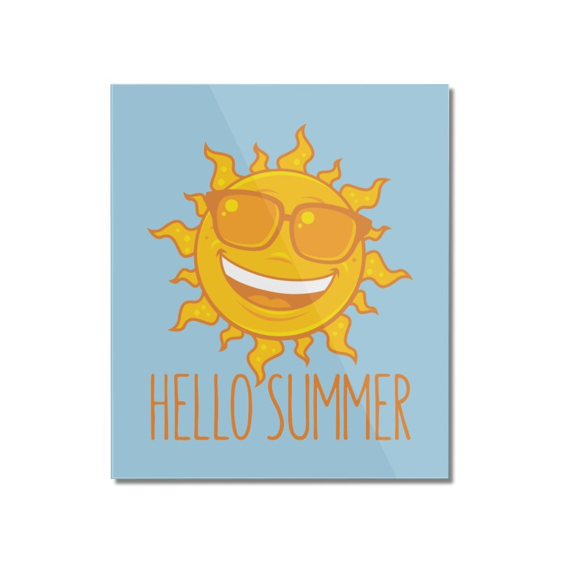 Hello Summer Sun With Sunglasses Home Mounted Acrylic Print by Fizzgig's Artist Shop