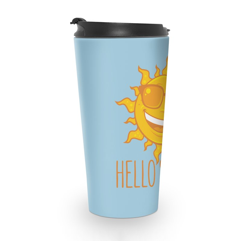 Hello Summer Sun With Sunglasses Accessories Travel Mug by Fizzgig's Artist Shop