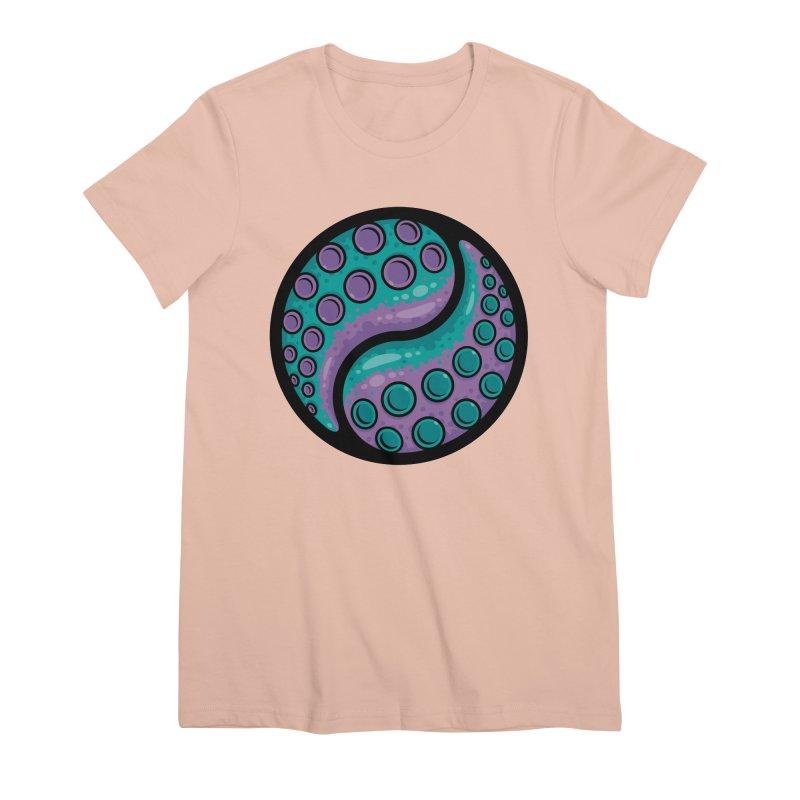 Tentacle Yin Yang Women's Premium T-Shirt by Fizzgig's Artist Shop