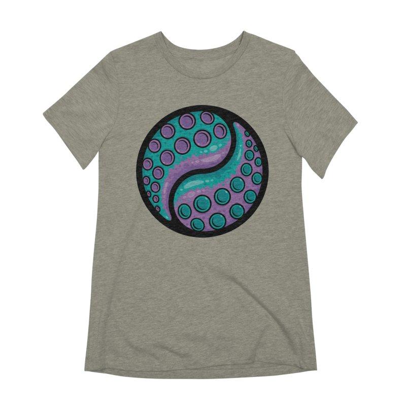 Tentacle Yin Yang Women's Extra Soft T-Shirt by Fizzgig's Artist Shop