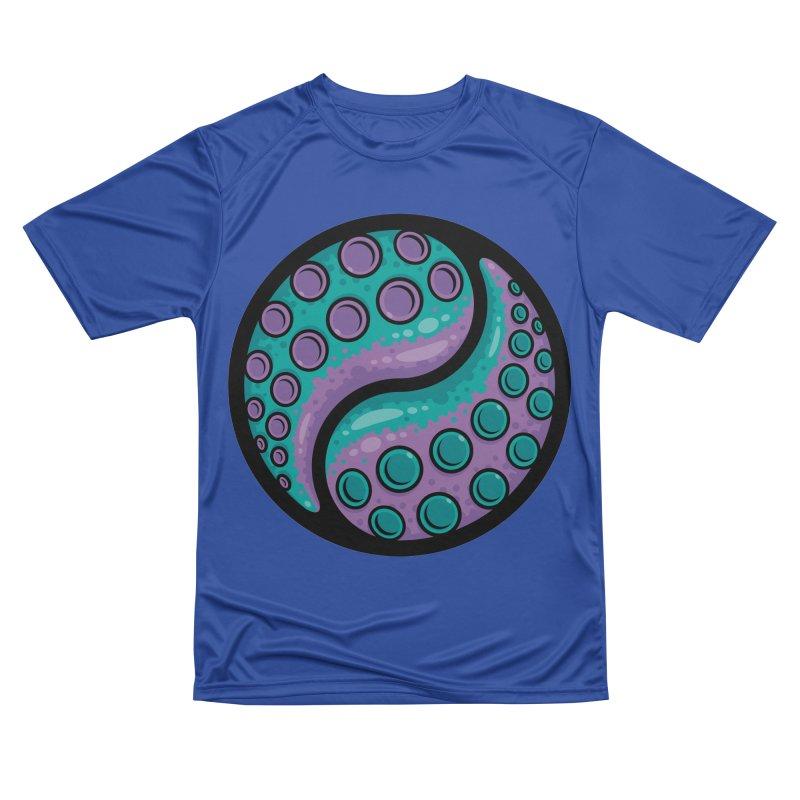 Tentacle Yin Yang Women's Performance Unisex T-Shirt by Fizzgig's Artist Shop