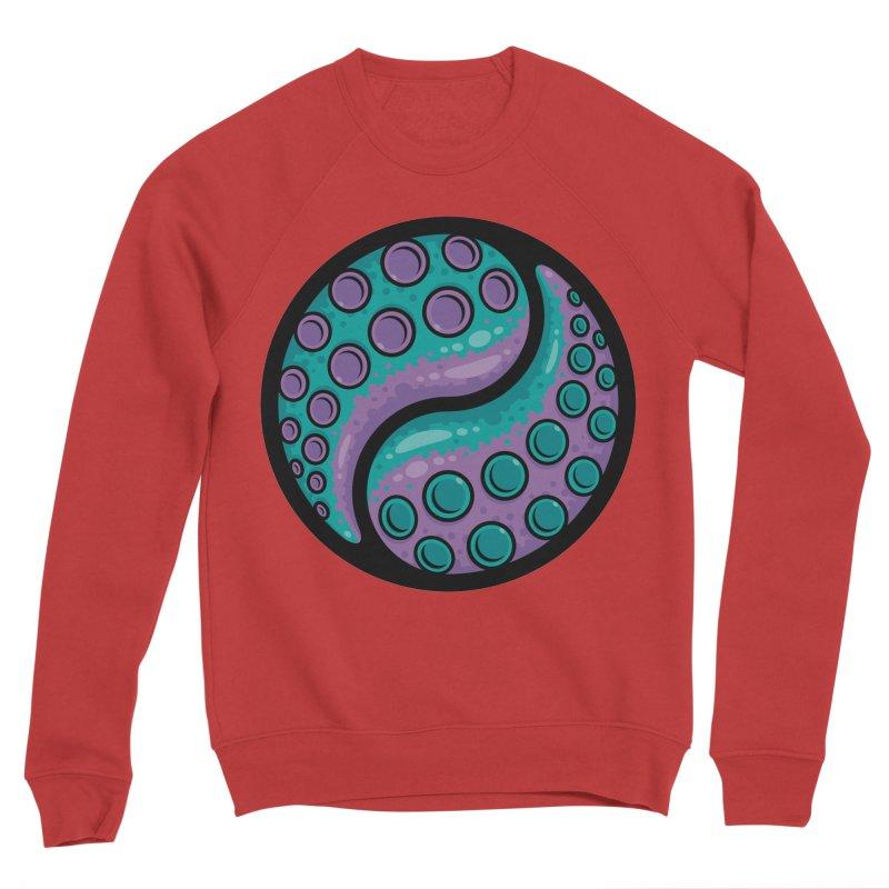 Tentacle Yin Yang Men's Sponge Fleece Sweatshirt by Fizzgig's Artist Shop