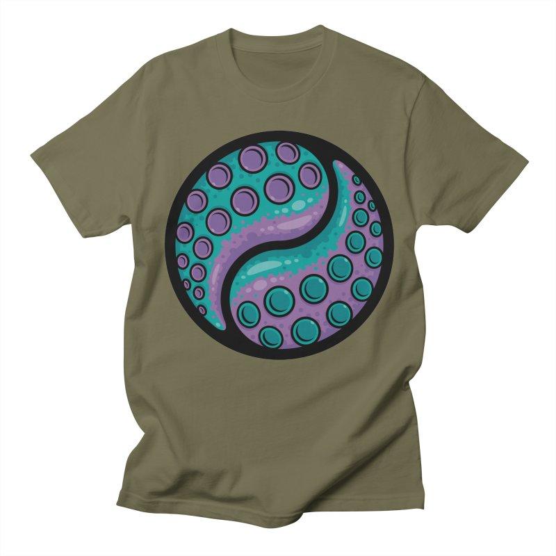 Tentacle Yin Yang Men's Regular T-Shirt by Fizzgig's Artist Shop