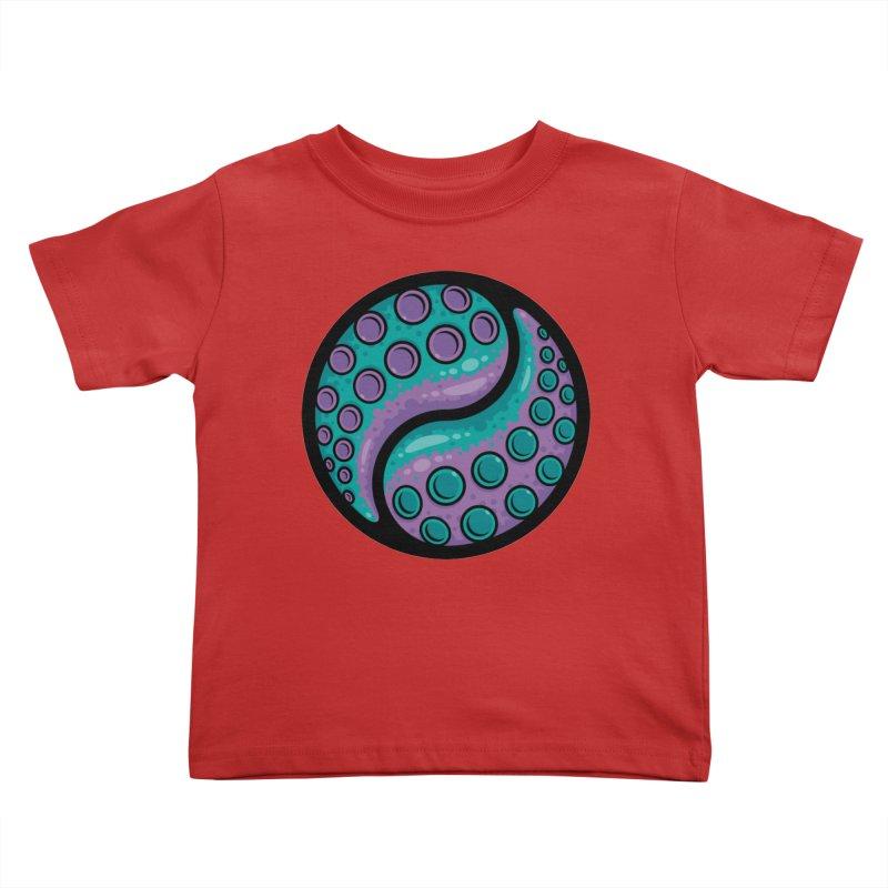 Tentacle Yin Yang Kids Toddler T-Shirt by Fizzgig's Artist Shop