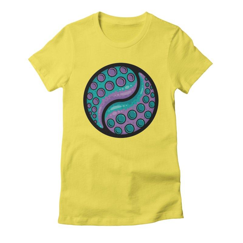 Tentacle Yin Yang Women's Fitted T-Shirt by Fizzgig's Artist Shop