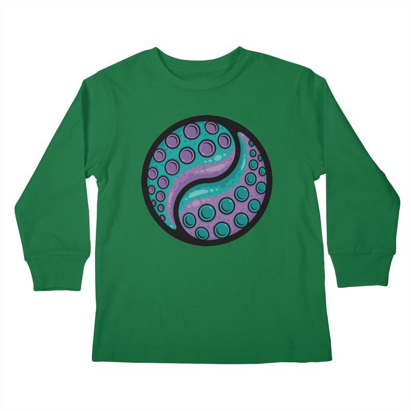 Tentacle Yin Yang Kids Longsleeve T-Shirt by Fizzgig's Artist Shop