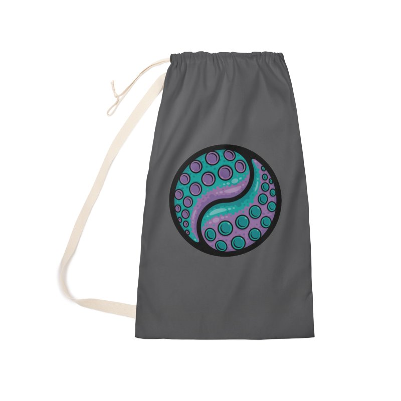 Tentacle Yin Yang Accessories Laundry Bag Bag by Fizzgig's Artist Shop