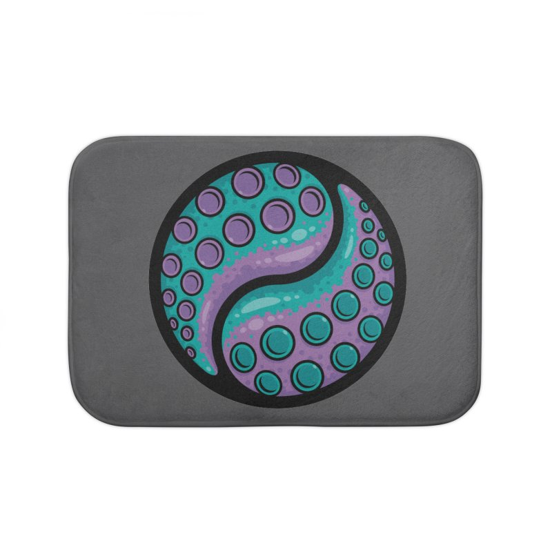 Tentacle Yin Yang Home Bath Mat by Fizzgig's Artist Shop