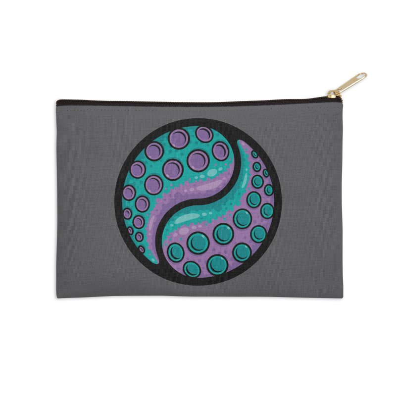 Tentacle Yin Yang Accessories Zip Pouch by Fizzgig's Artist Shop