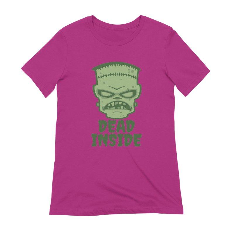 Dead Inside Frankenstein Monster Women's Extra Soft T-Shirt by Fizzgig's Artist Shop