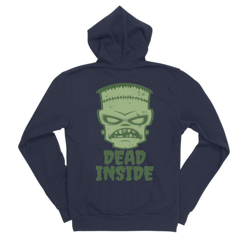 Dead Inside Frankenstein Monster Men's Sponge Fleece Zip-Up Hoody by Fizzgig's Artist Shop