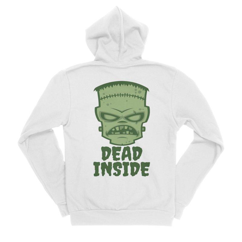 Dead Inside Frankenstein Monster Women's Sponge Fleece Zip-Up Hoody by Fizzgig's Artist Shop