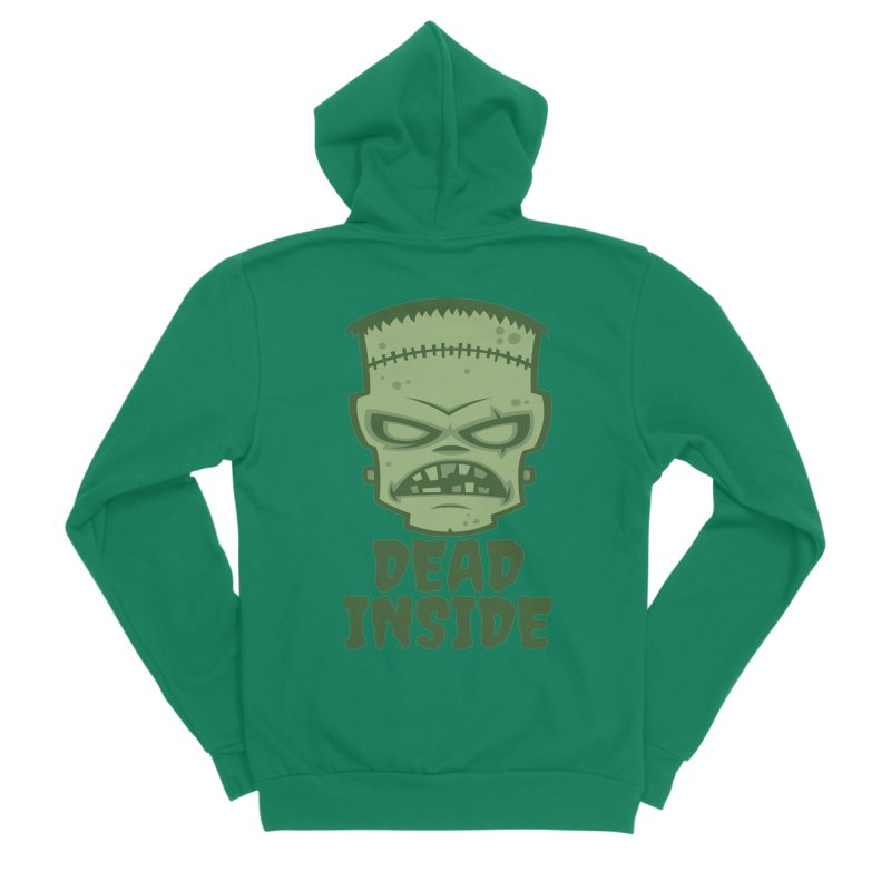 Dead Inside Frankenstein Monster Men's Sponge Fleece Zip-Up Hoody by Fizzgig's Artist Shop