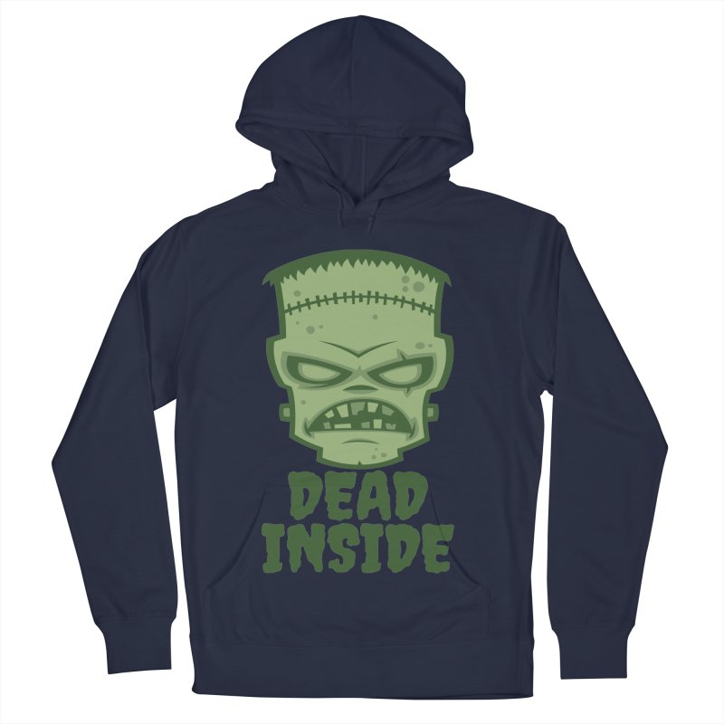 Dead Inside Frankenstein Monster Men's French Terry Pullover Hoody by Fizzgig's Artist Shop