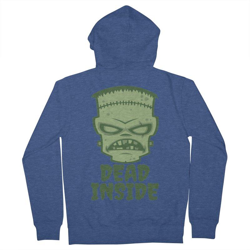Dead Inside Frankenstein Monster Men's French Terry Zip-Up Hoody by Fizzgig's Artist Shop