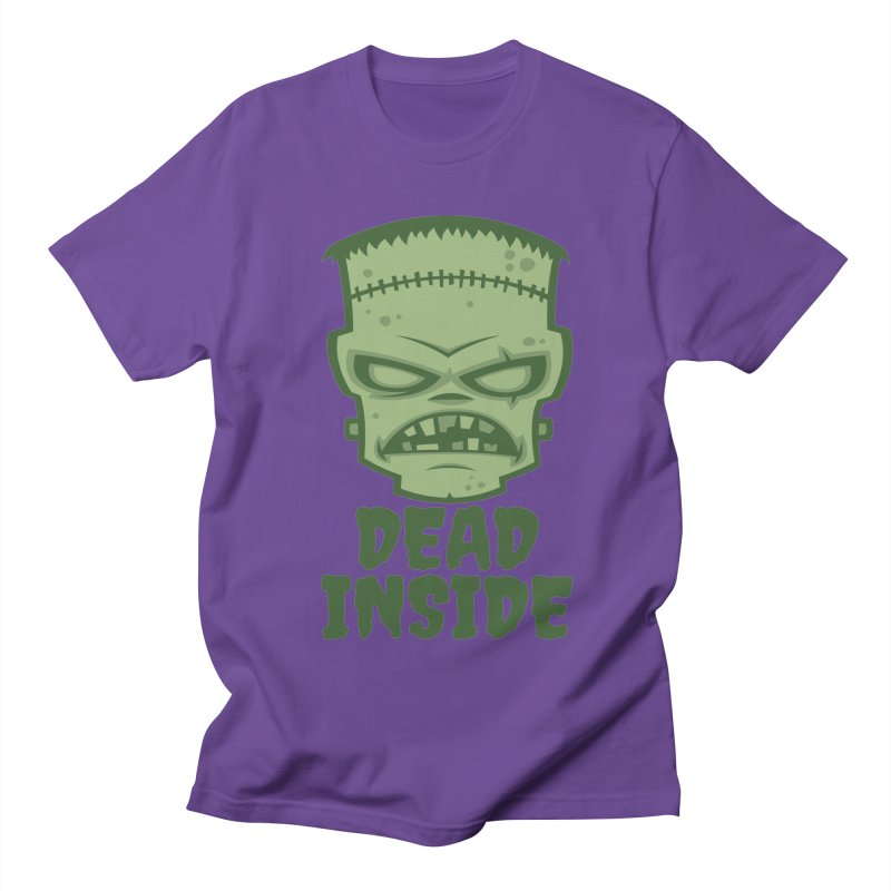 Dead Inside Frankenstein Monster Men's Regular T-Shirt by Fizzgig's Artist Shop