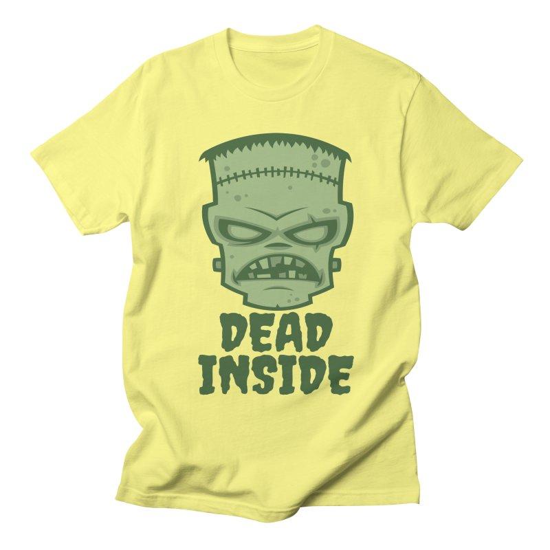 Dead Inside Frankenstein Monster Men's Regular T-Shirt by Fizzgig's Artist Shop
