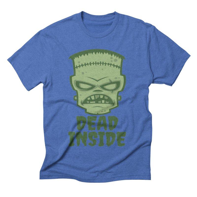 Dead Inside Frankenstein Monster Men's Triblend T-Shirt by Fizzgig's Artist Shop