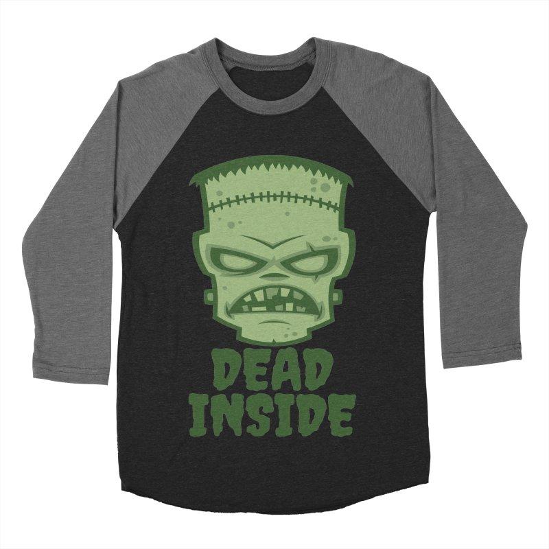 Dead Inside Frankenstein Monster Men's Baseball Triblend Longsleeve T-Shirt by Fizzgig's Artist Shop