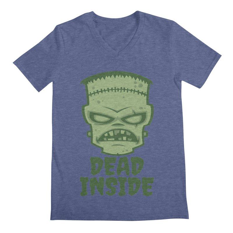 Dead Inside Frankenstein Monster Men's Regular V-Neck by Fizzgig's Artist Shop