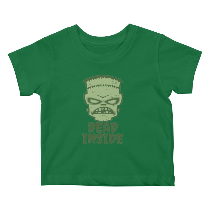 Dead Inside Frankenstein Monster Kids Baby T-Shirt by Fizzgig's Artist Shop