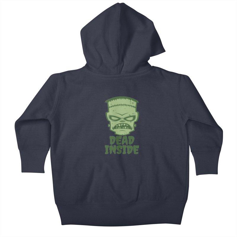 Dead Inside Frankenstein Monster Kids Baby Zip-Up Hoody by Fizzgig's Artist Shop