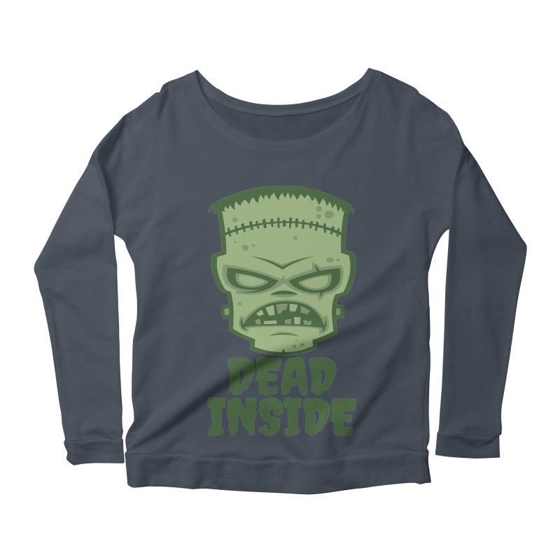 Dead Inside Frankenstein Monster Women's Scoop Neck Longsleeve T-Shirt by Fizzgig's Artist Shop
