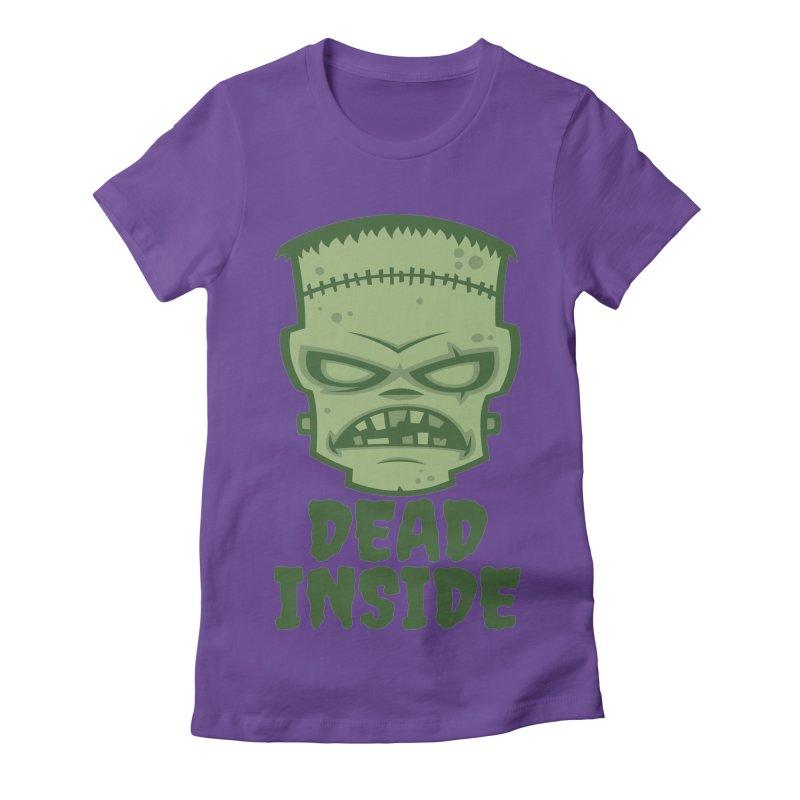 Dead Inside Frankenstein Monster Women's Fitted T-Shirt by Fizzgig's Artist Shop