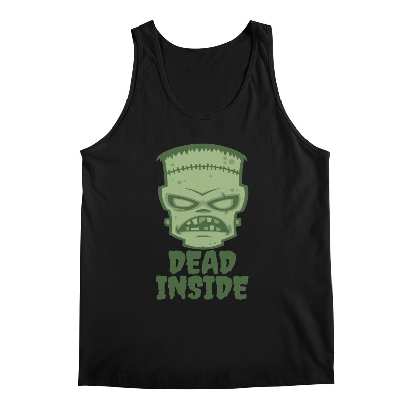 Dead Inside Frankenstein Monster Men's Regular Tank by Fizzgig's Artist Shop