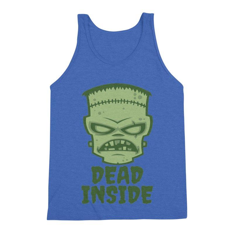 Dead Inside Frankenstein Monster Men's Triblend Tank by Fizzgig's Artist Shop