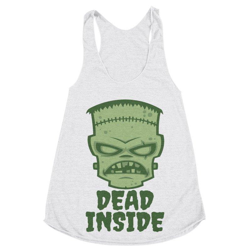 Dead Inside Frankenstein Monster Women's Racerback Triblend Tank by Fizzgig's Artist Shop