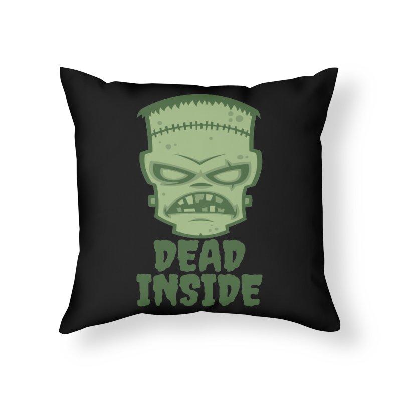 Dead Inside Frankenstein Monster Home Throw Pillow by Fizzgig's Artist Shop