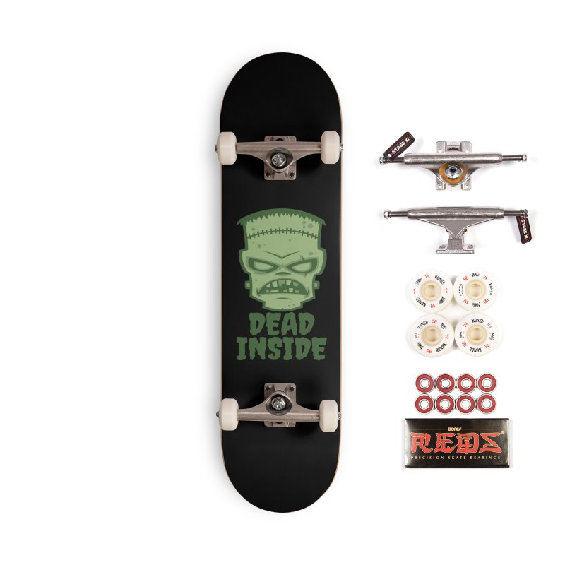 Dead Inside Frankenstein Monster Accessories Skateboard by Fizzgig's Artist Shop