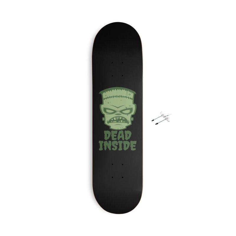 Dead Inside Frankenstein Monster Accessories With Hanging Hardware Skateboard by Fizzgig's Artist Shop
