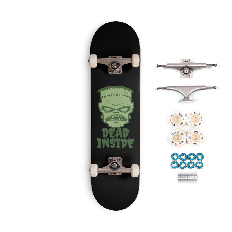 Dead Inside Frankenstein Monster Accessories Complete - Premium Skateboard by Fizzgig's Artist Shop
