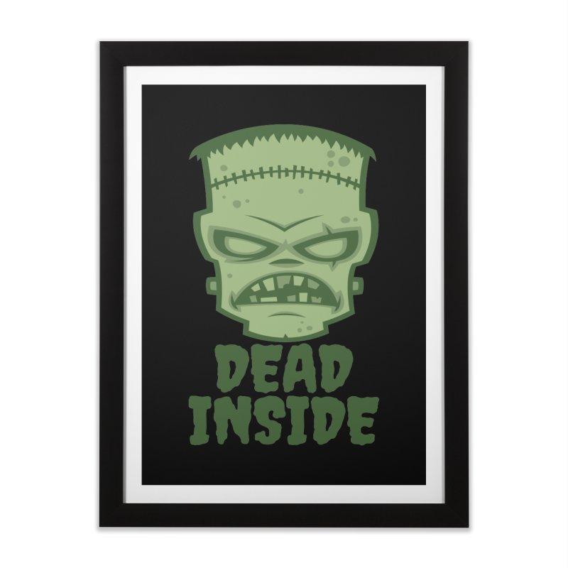 Dead Inside Frankenstein Monster Home Framed Fine Art Print by Fizzgig's Artist Shop