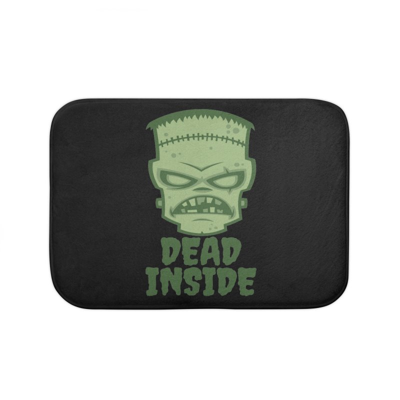 Dead Inside Frankenstein Monster Home Bath Mat by Fizzgig's Artist Shop