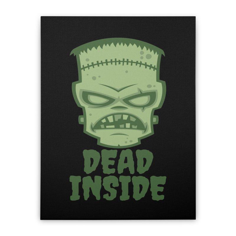 Dead Inside Frankenstein Monster Home Stretched Canvas by Fizzgig's Artist Shop