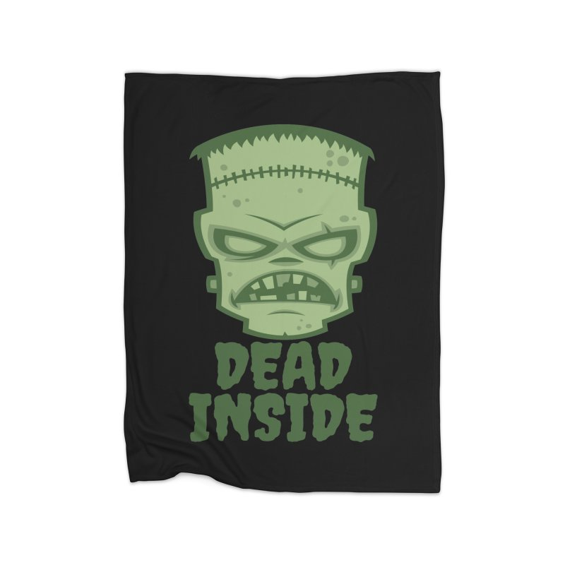 Dead Inside Frankenstein Monster Home Fleece Blanket Blanket by Fizzgig's Artist Shop