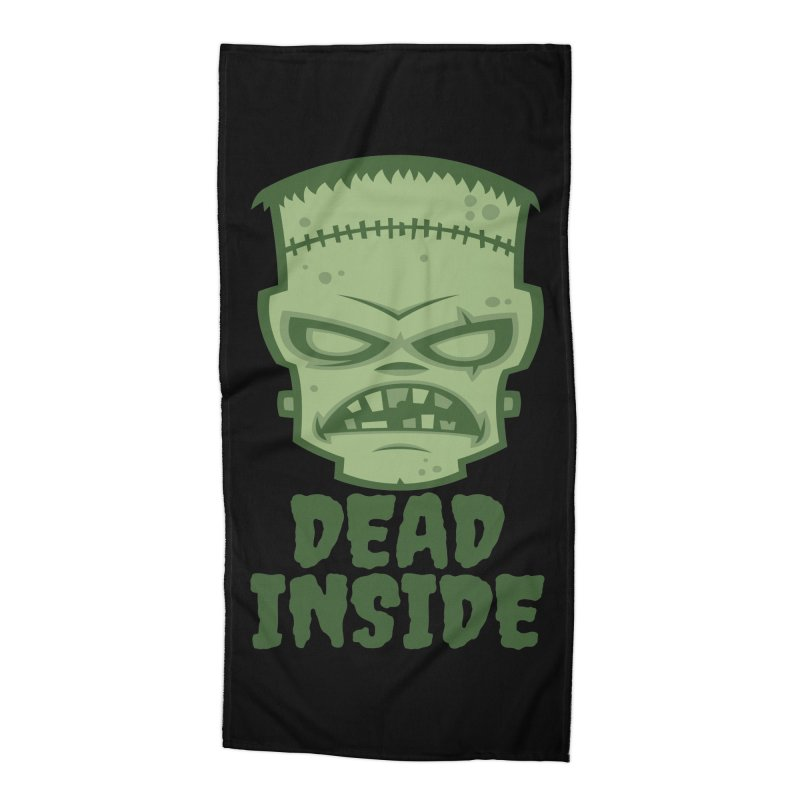Dead Inside Frankenstein Monster Accessories Beach Towel by Fizzgig's Artist Shop