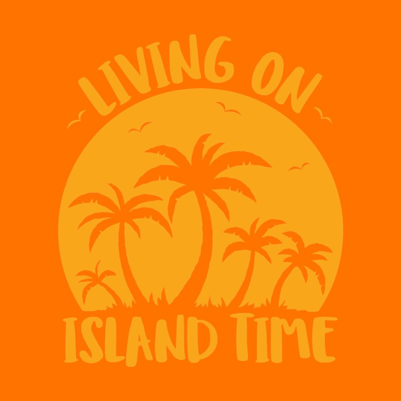 Living On Island Time Palm Trees And Sunset Men's T-Shirt by Fizzgig's Artist Shop